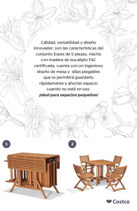 Elige el mueble adecuado para un patio pequeño. Con el diseño de ...