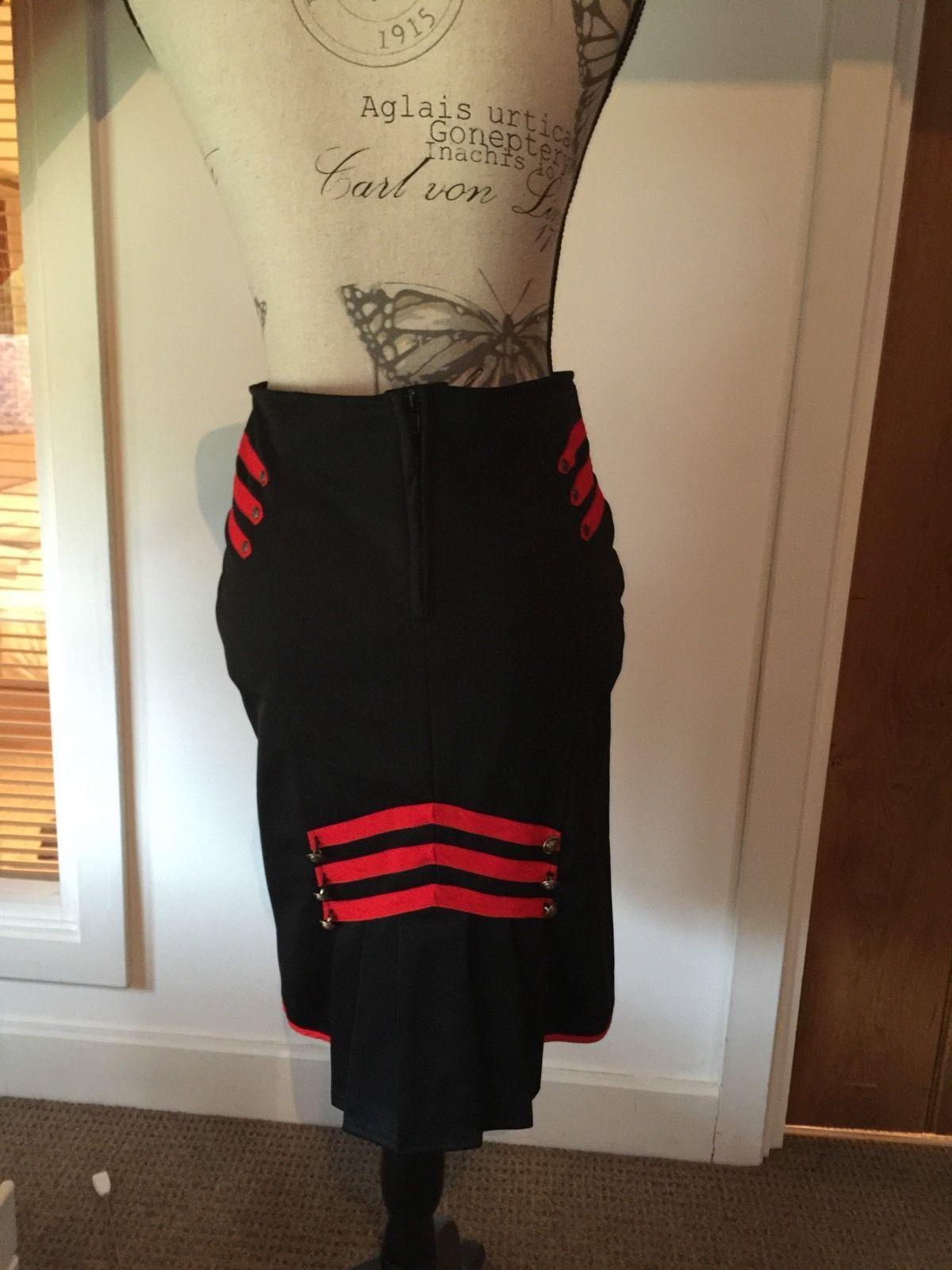 http://www.ebay.co.uk/itm/Hell-Bunny-Black-Red-Military-Pinup-Skirt ...