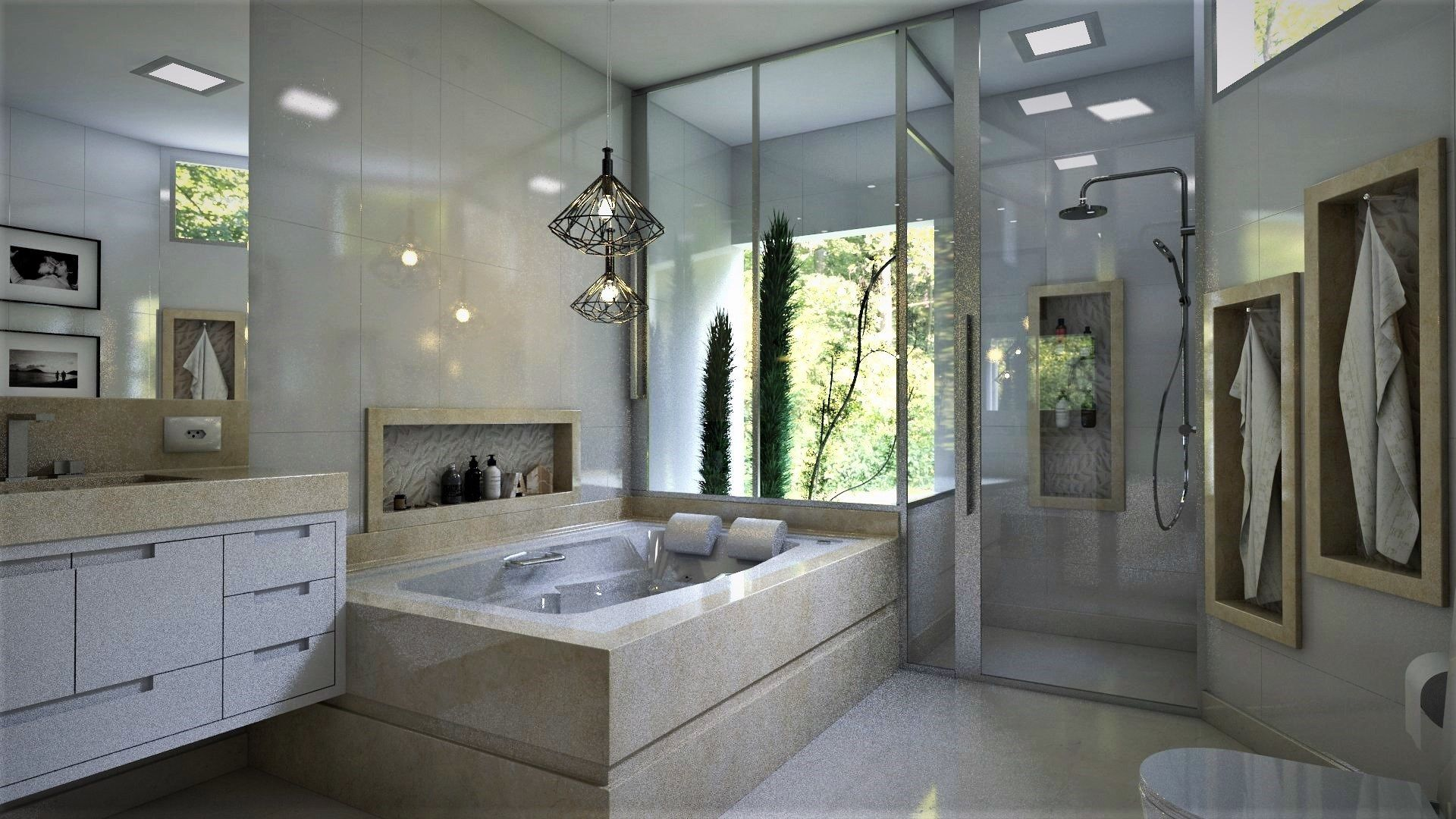 sketchup free 3d model | master bathroom by wellington ferreira, Badezimmer ideen