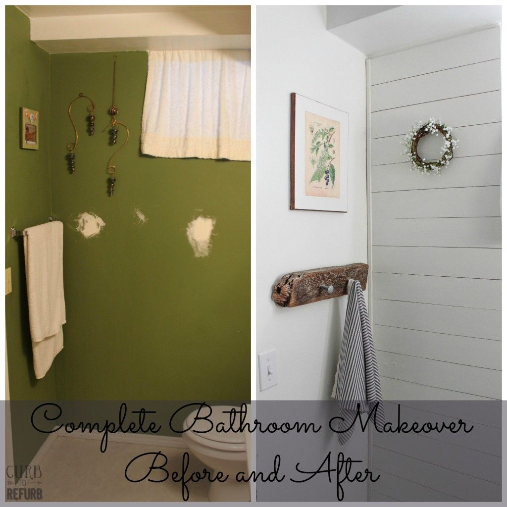 Complete Bathroom Makeover Before And After Diy Pinterest