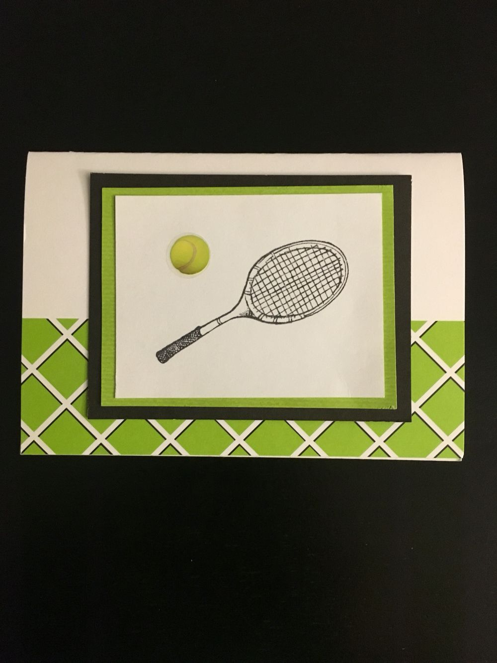 Tennis Birthday Card Birthday Handmade Greeting Card With Tennis