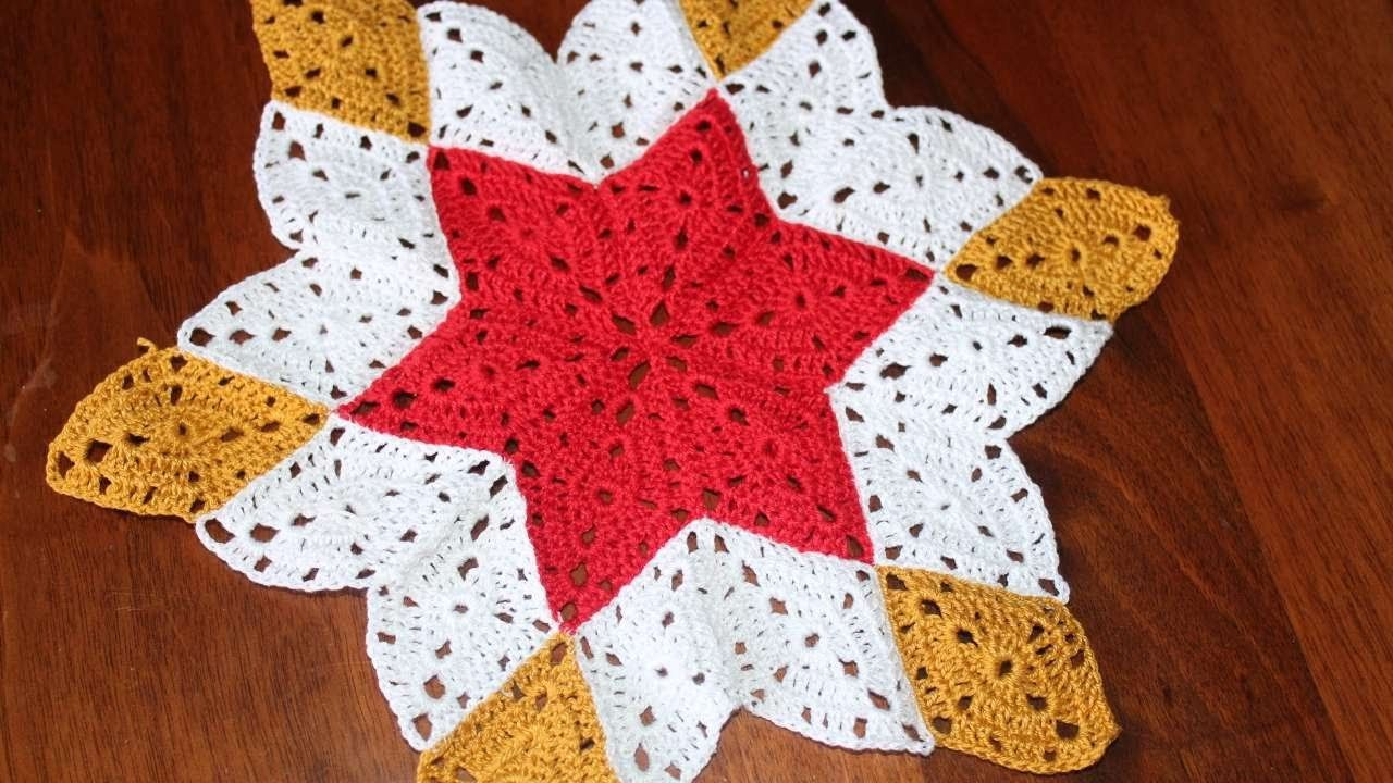 How To Crochet A Star Shaped Doily - DIY Crafts Tutorial ...