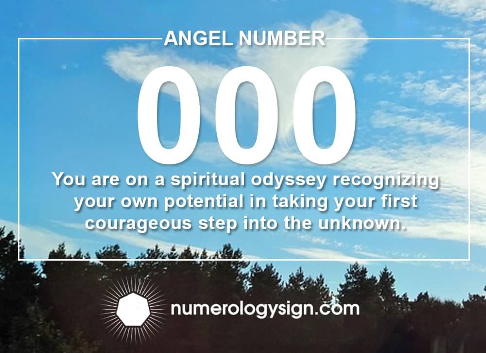 Angel Number 000 Meanings