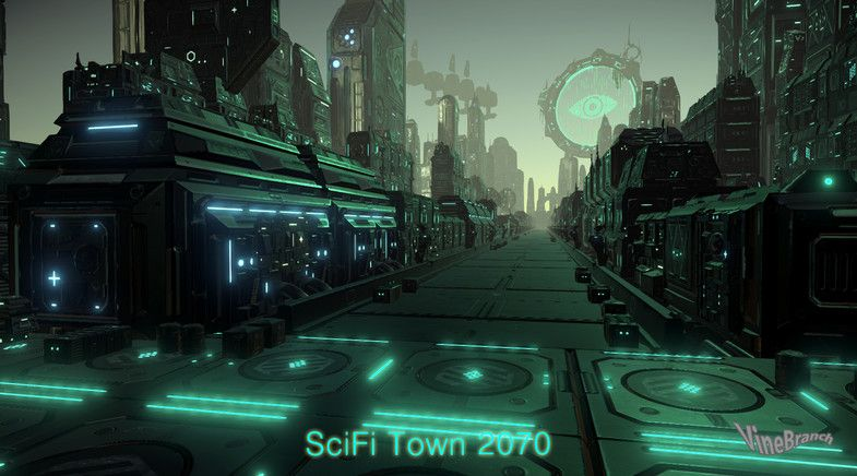 SCIFI TOWN 2070 sponsored3d TOWNSCIFIFiSci Vintage