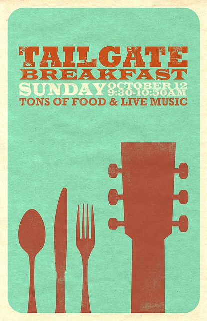Tailgate Poster 2 by Abby In Color, via Flickr