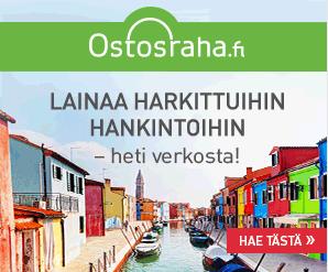 Tarvitsetko kulutusluottoa heti tilille 400-5 000€? Vaaditko kulutusluotoltasi samaa nopeutta kuin käteiseltä rahalta? Onko sinusta kulutusluoton suosio merkki kuluttajien luottamuksesta? Hyvä, Ostosraha.fi pystyy tarjoamaan kaikki nämä ominaisuudet! Lue lisää...!