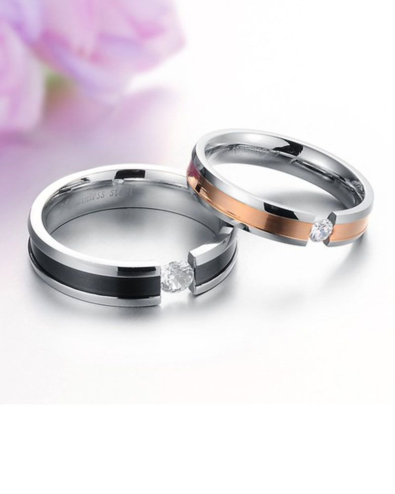 Titanium rings for couple | Couple Rings | Pinterest | Titanium ...