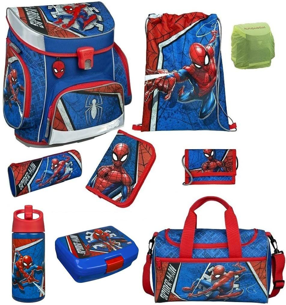 Photo of Komplett Set für den Schulanfang: Spiderman Schulranzen-Set 9-teilig