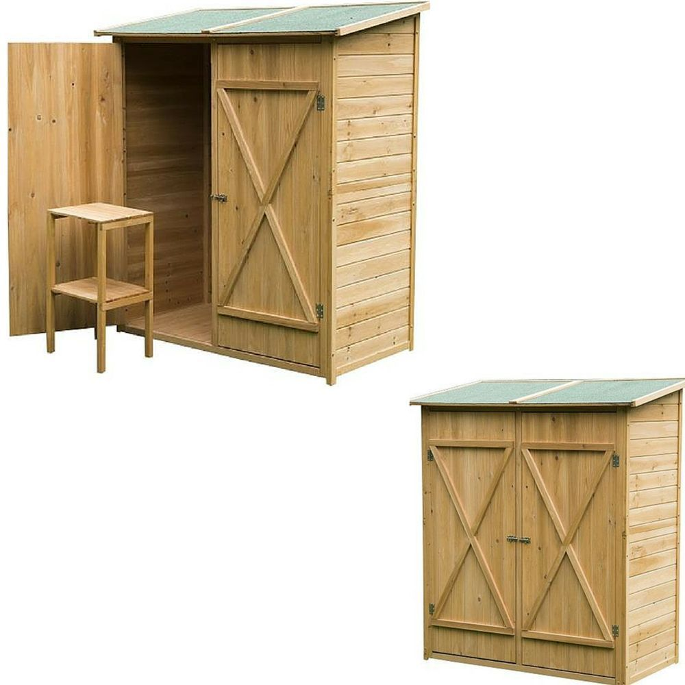 Outdoor Garden Storage Sheds Wooden Large Shed Garage Backyard Tools Store  Kit In Garden U0026 Patio