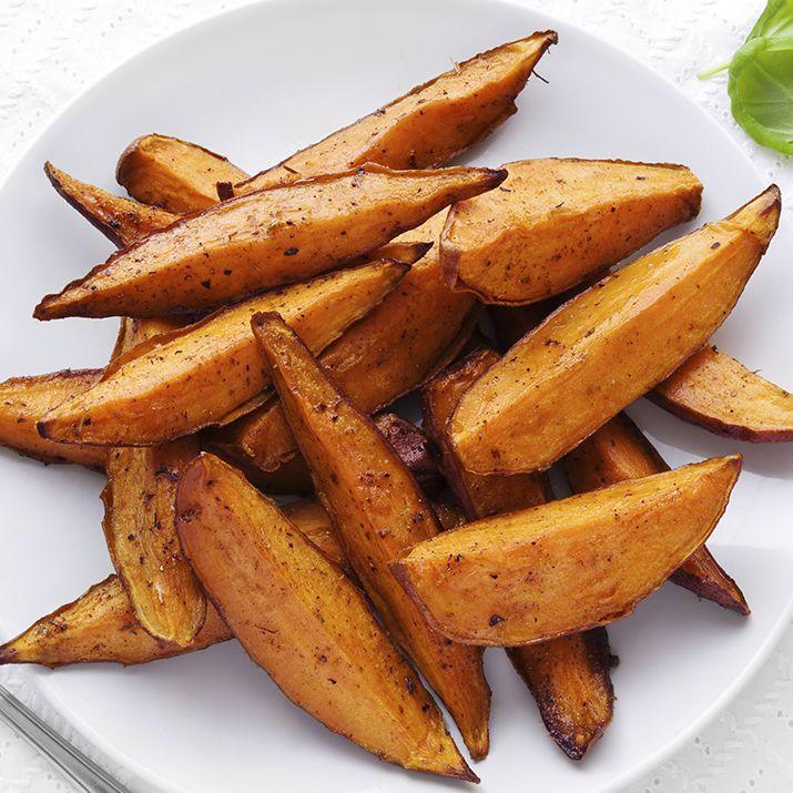 Spicy Sweet Potato Wedges With Jalapeño Sour Cream