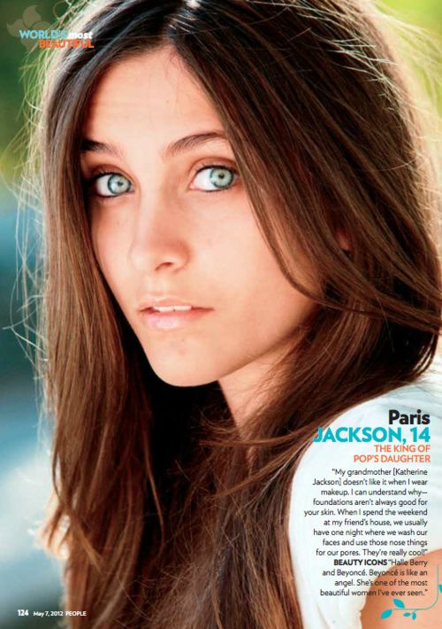 Paris Jackson in People Magazine's Most Beautiful People ...