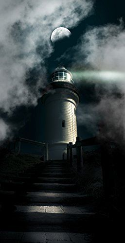 Haunted Lighthouse Under A Full Moon 5ft X7ft Vinyl Photo