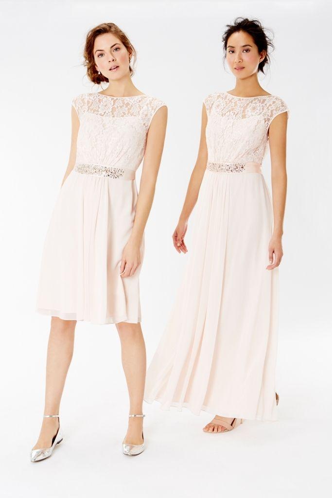 Coast 2016 Bridesmaid Collection Lace Blush Pink Lori Lee Maxi And Short Dresses