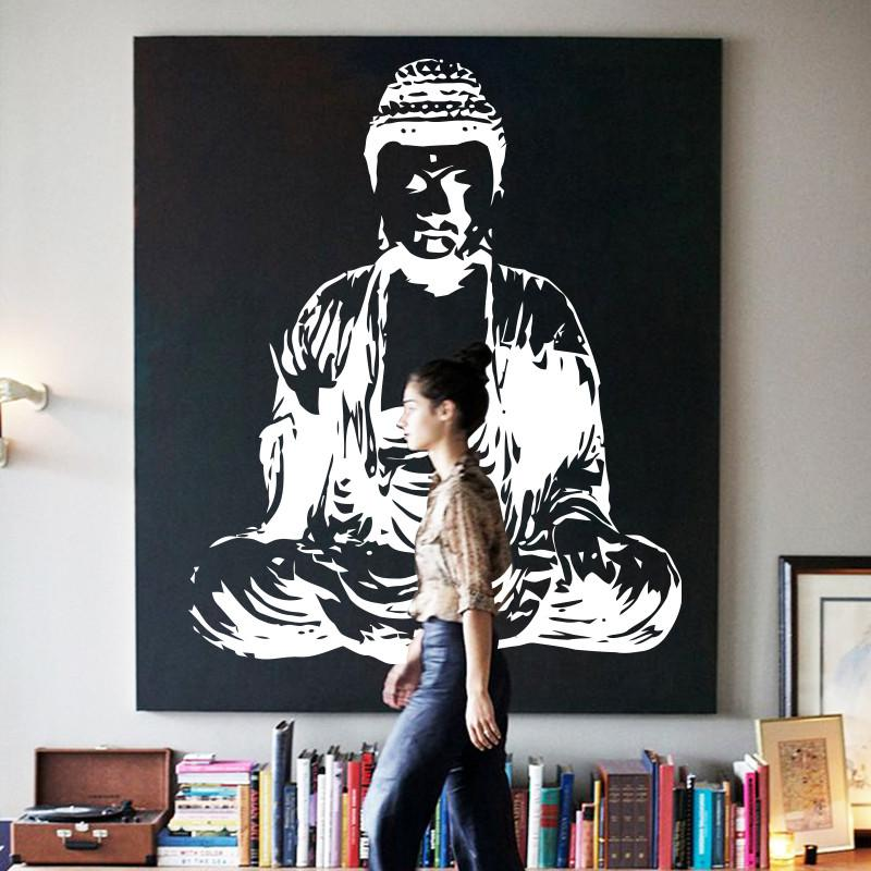 large buddha vinyl wall decal 6 colors 2 sizes   products   wall