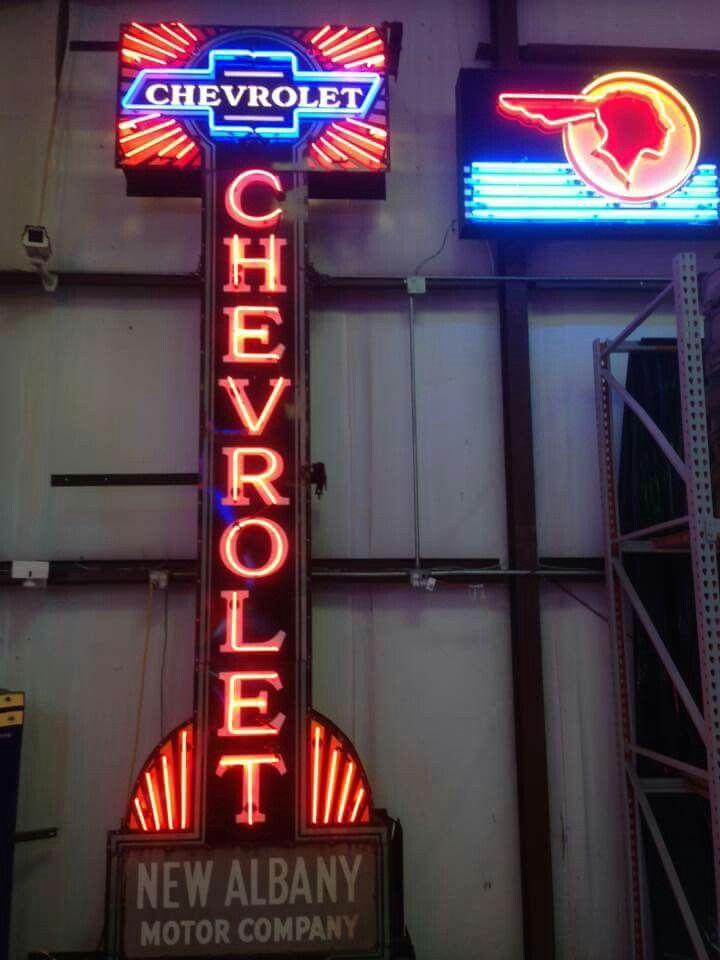 Original Chevrolet Neon Sign Vintage Neon Signs Neon Car Old