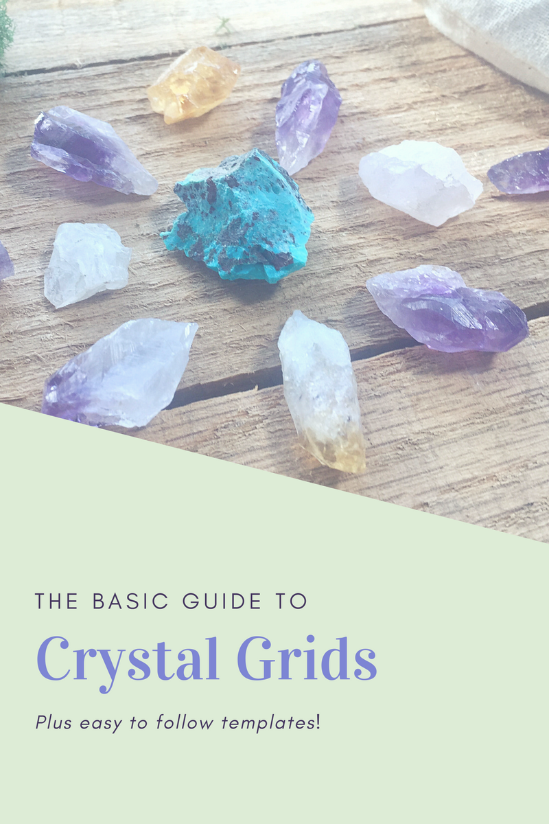 FREE TEMPLATE learn how to Crystal Grid!   Healing Crystals & Stones ...