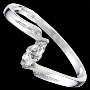 Sterling silver ring, CZ, fine ring