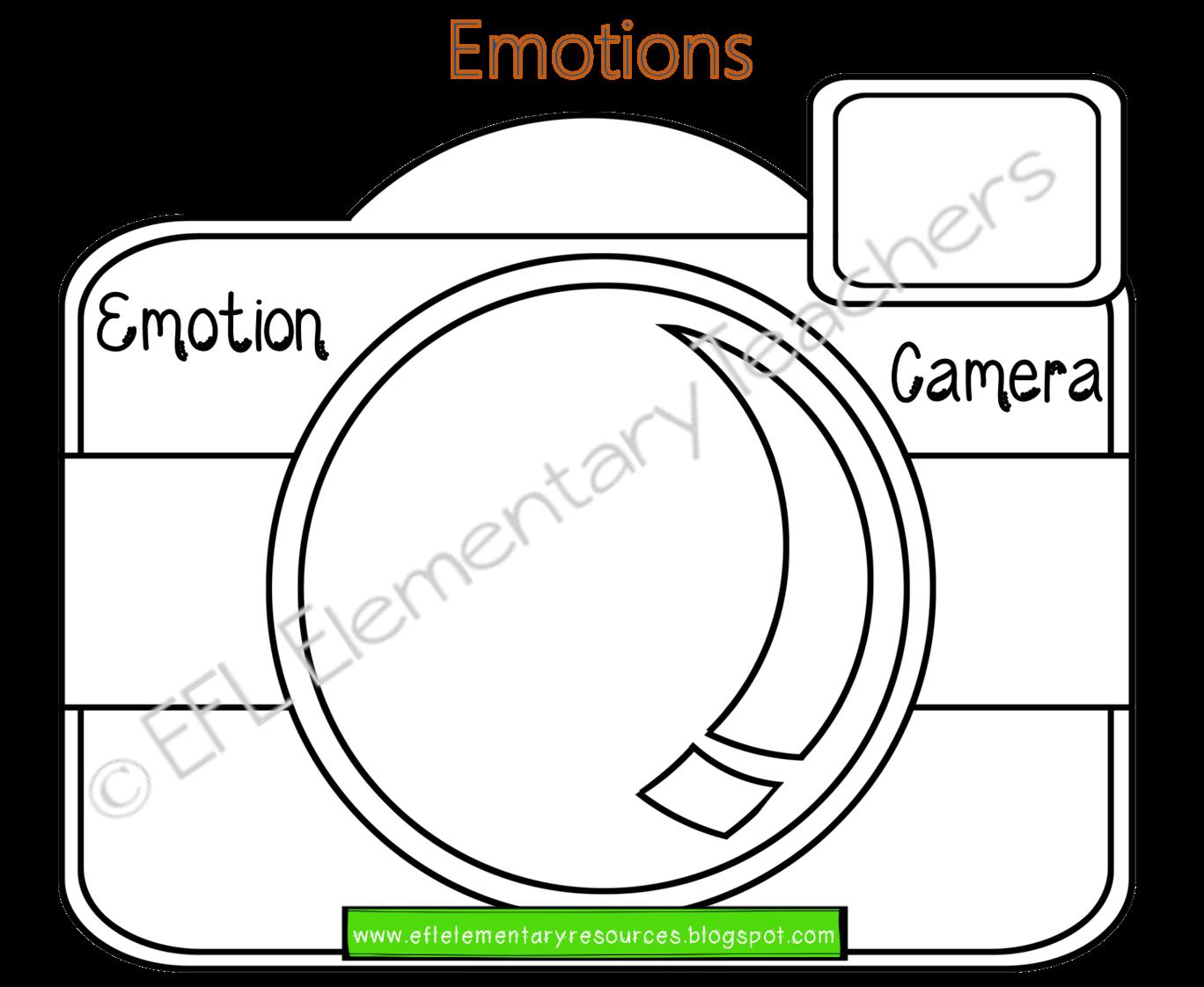 Esl Emotions And Feelings Camera This Printable Camera