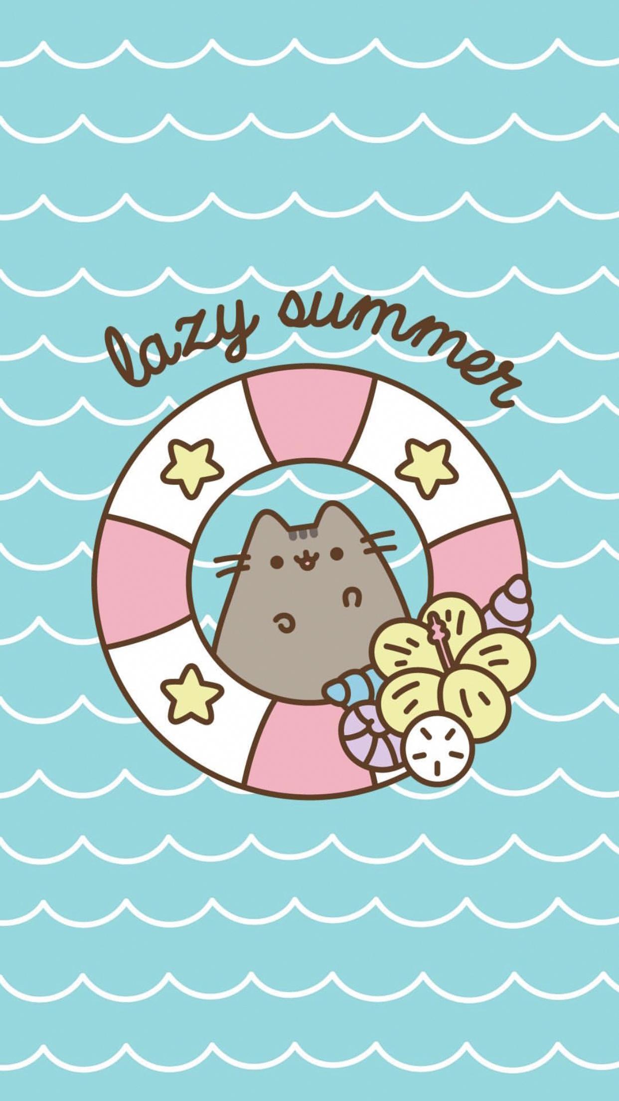 Pusheen Iphone Wallpaper Iphonewallpaperhipster Pusheen Cute Pusheen Cat Cute Cat Wallpaper