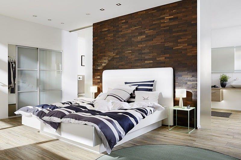 Einzigartige Ideen Für Wandverkleidungen Aus Holz Im Schlafzimmer    Wandverkleidung Modern Schlafzimmer