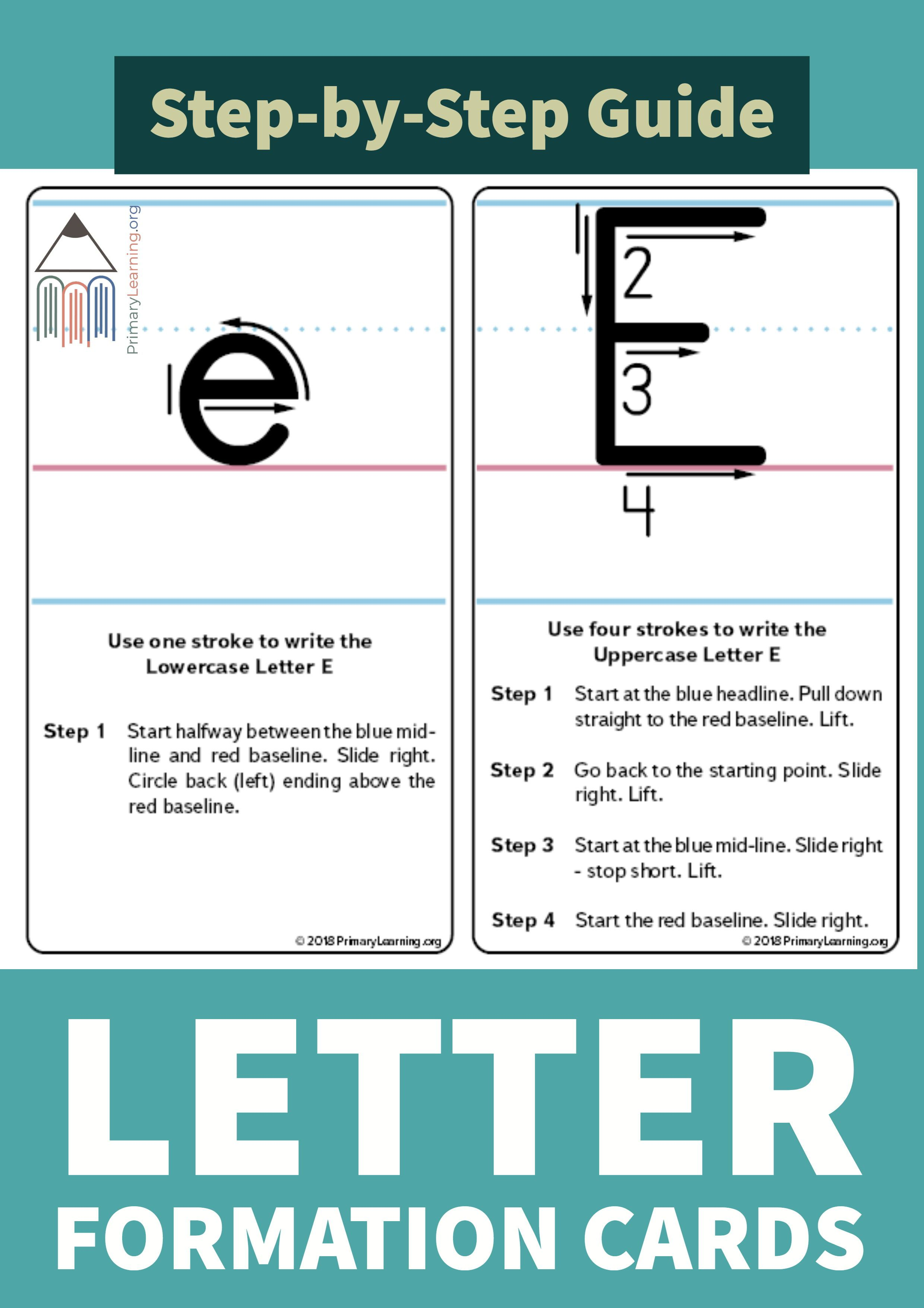 How To Write The Letter E  Letter e, Teaching letters, Lettering