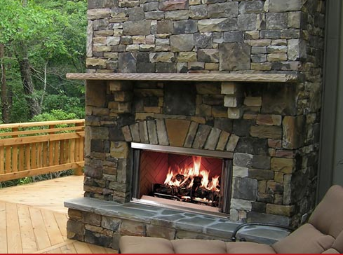 The Montana is the original outdoor fireplace that started
