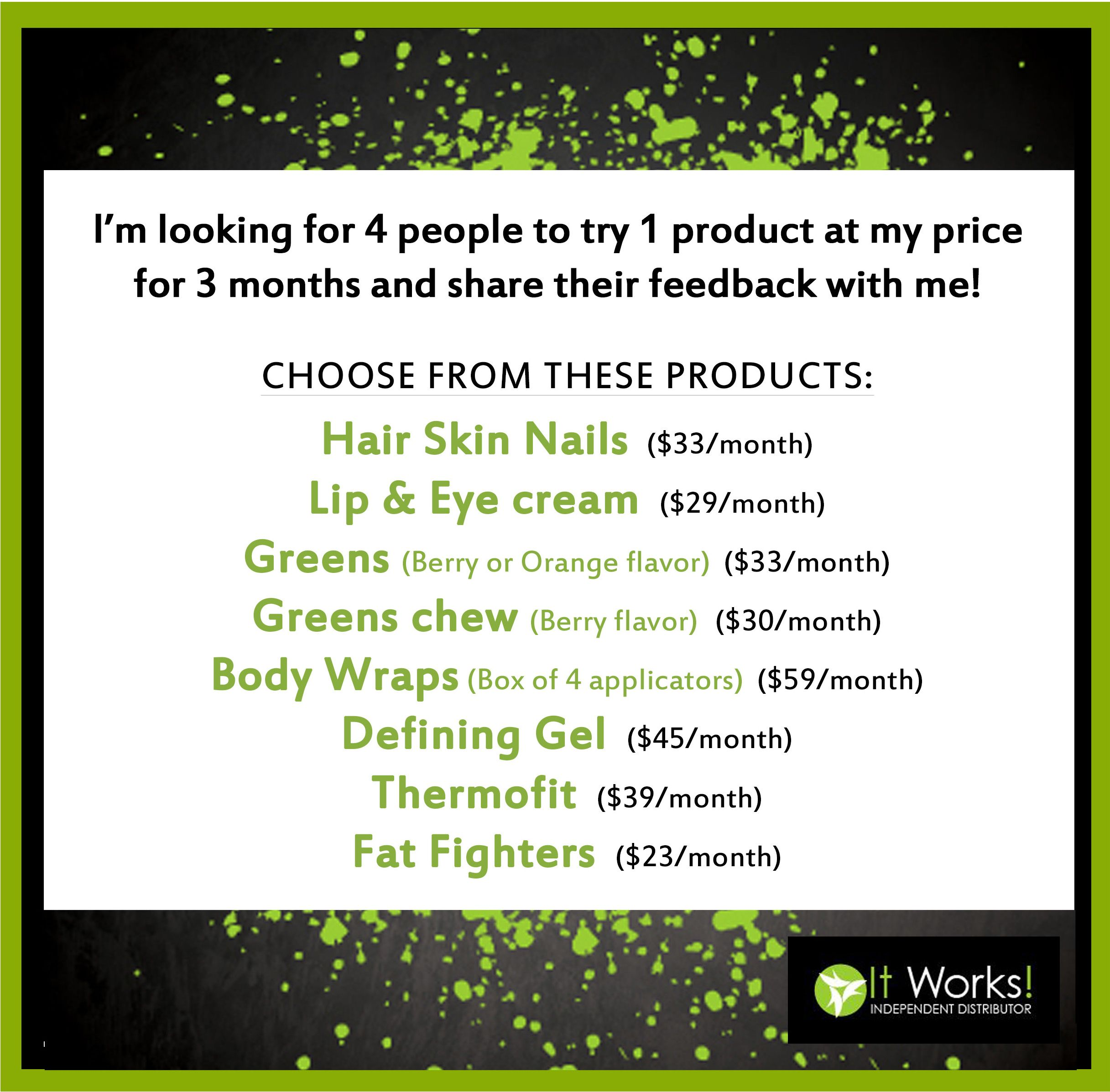 Itworks My Products Review