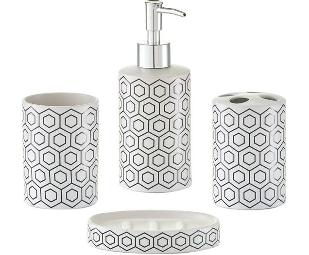 Set Accessori Da Bagno Graphic 4 Pz Bathroom Accessories Sets