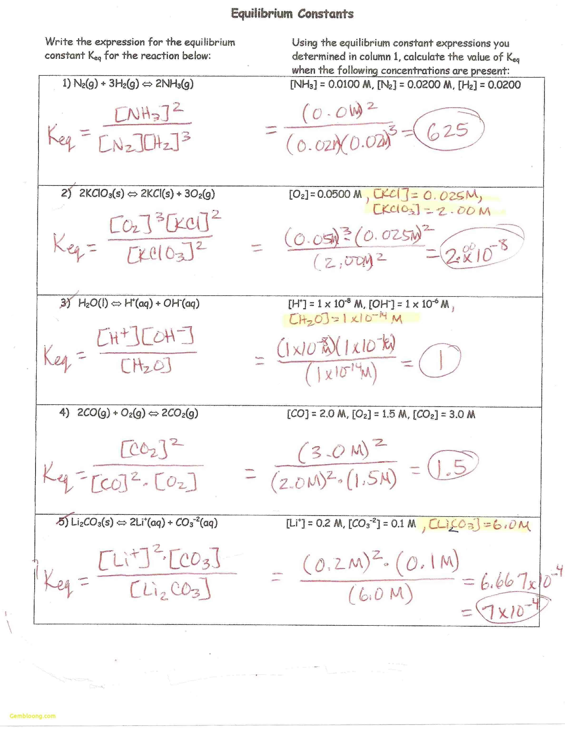 Stoichiometry Practice Worksheet Answers Incharlottesville