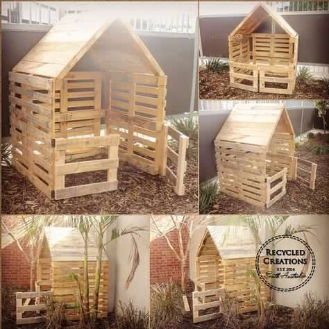 Pallet cubby house | Recycled Creations South Aust
