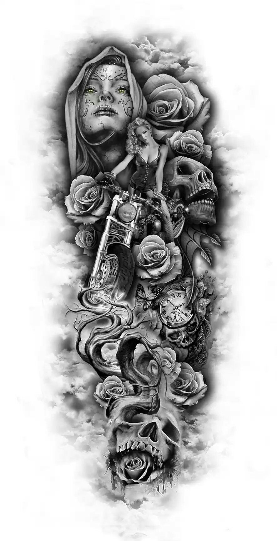 Tattoo Sleeve Sketches: Pin By Zombie Rus On Татуировки.