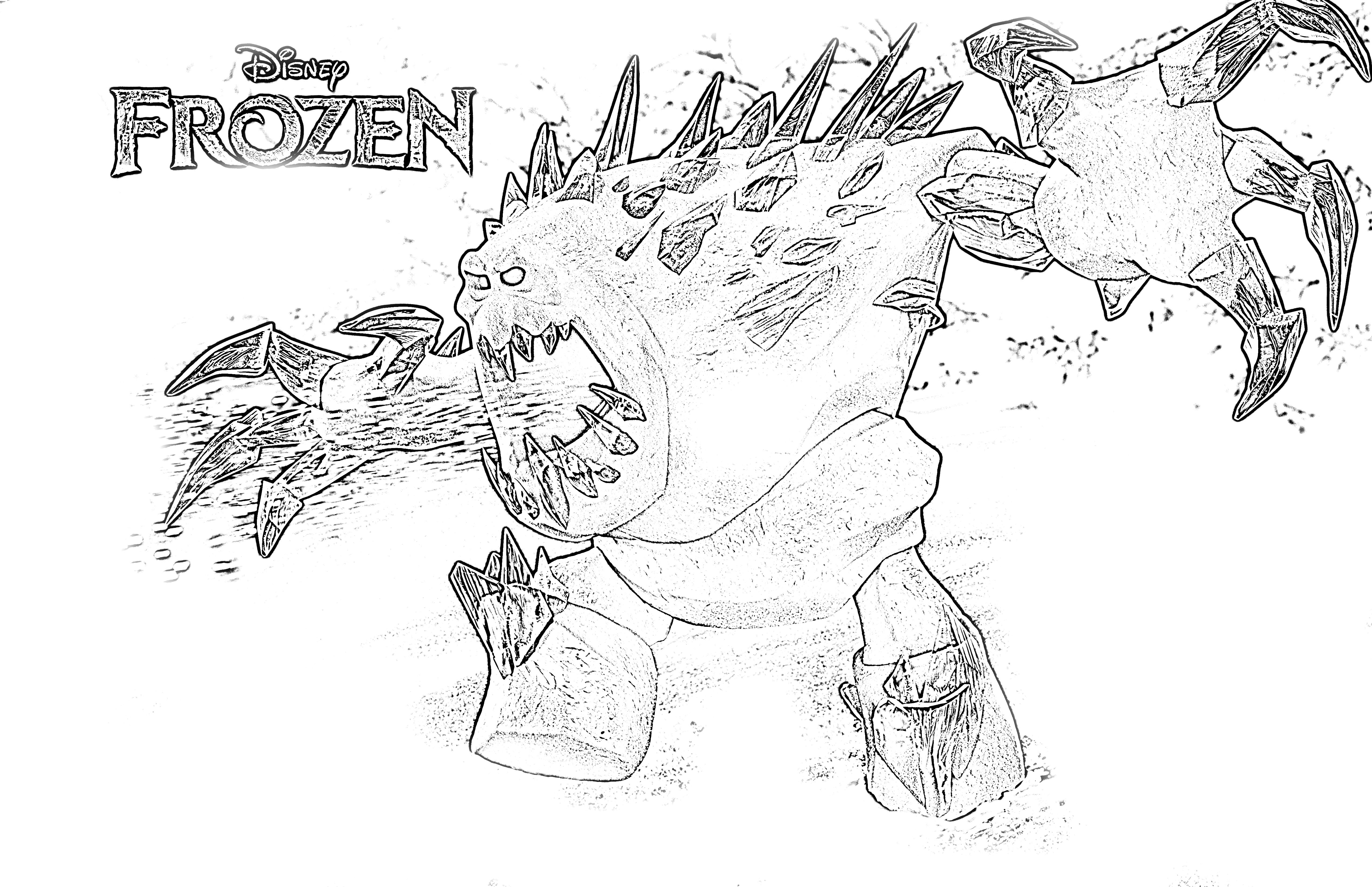 monster frozen coloring pages Monster Frozen Coloring pages ...