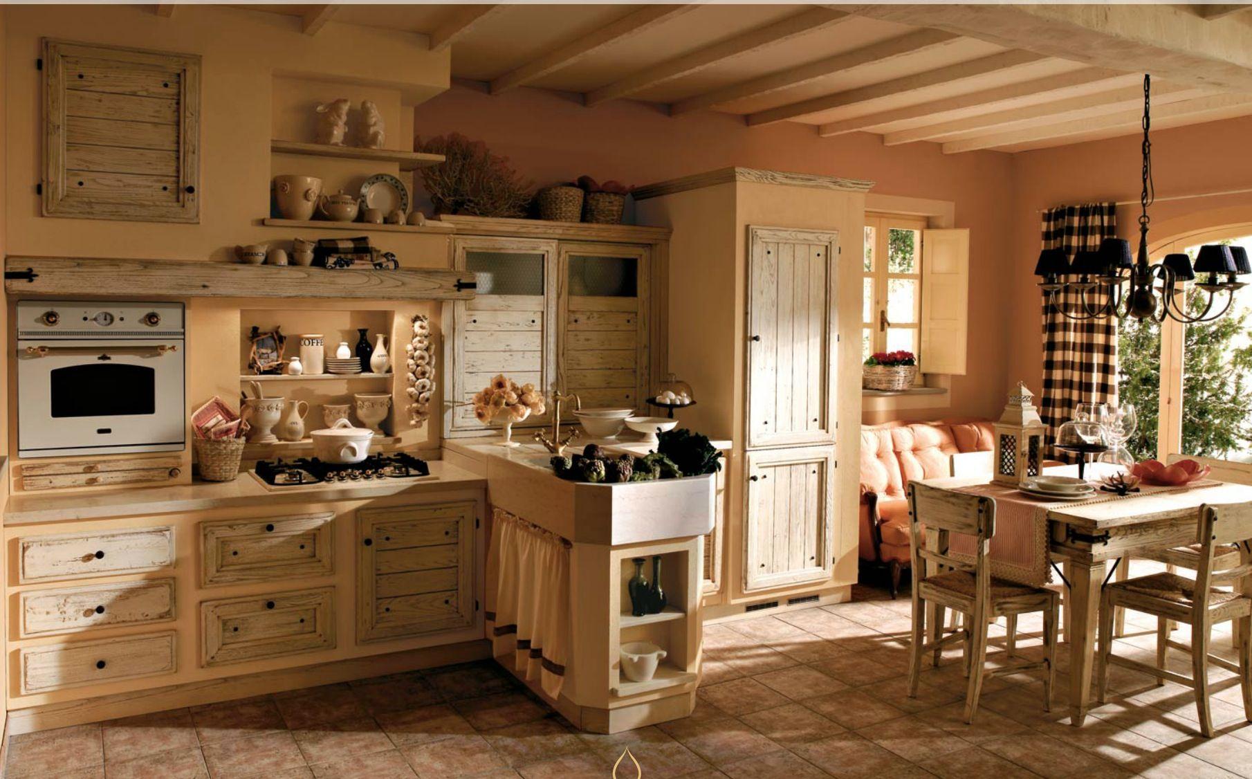 Cucina in muratura rustic kitchen pinterest shabby and cucina - Cucina in muratura ...