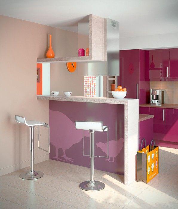 bar + retour au plafond | cuisine | Cuisines deco, Meuble ...
