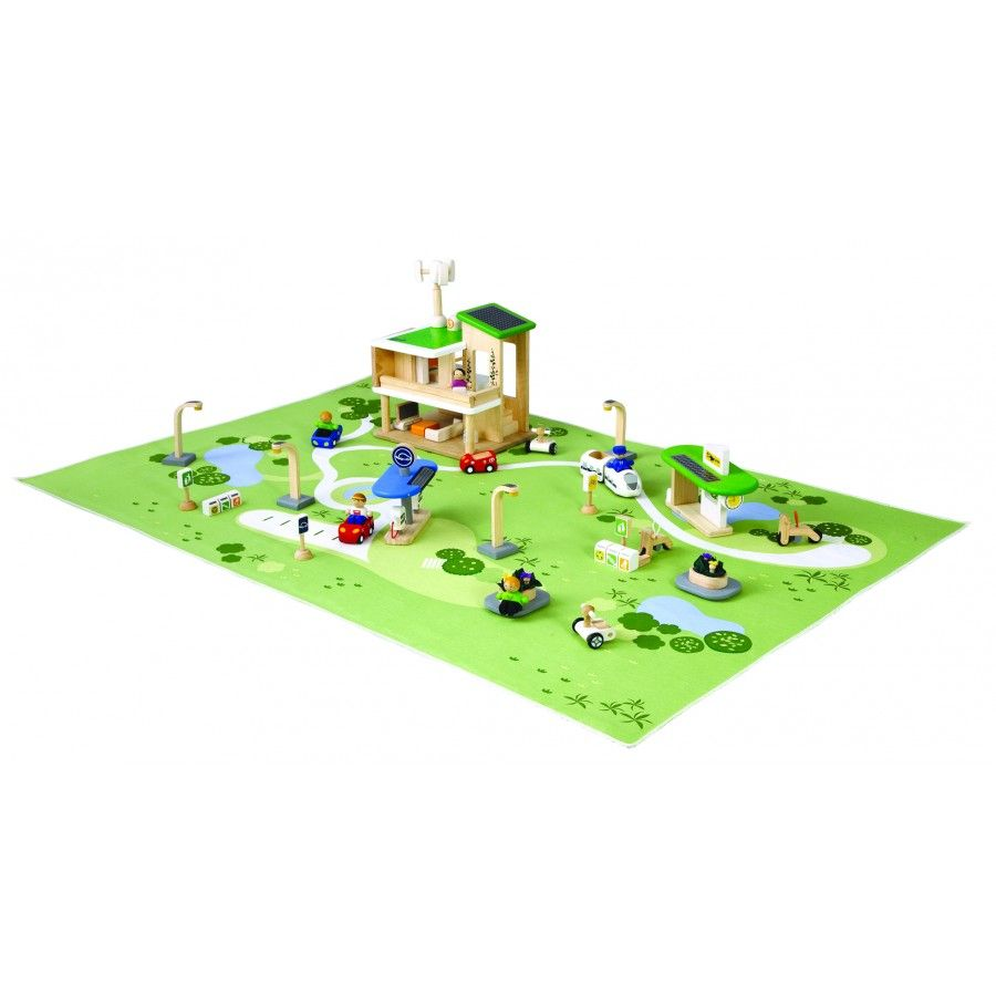plan toys eco town. this beautifully constructed eco town