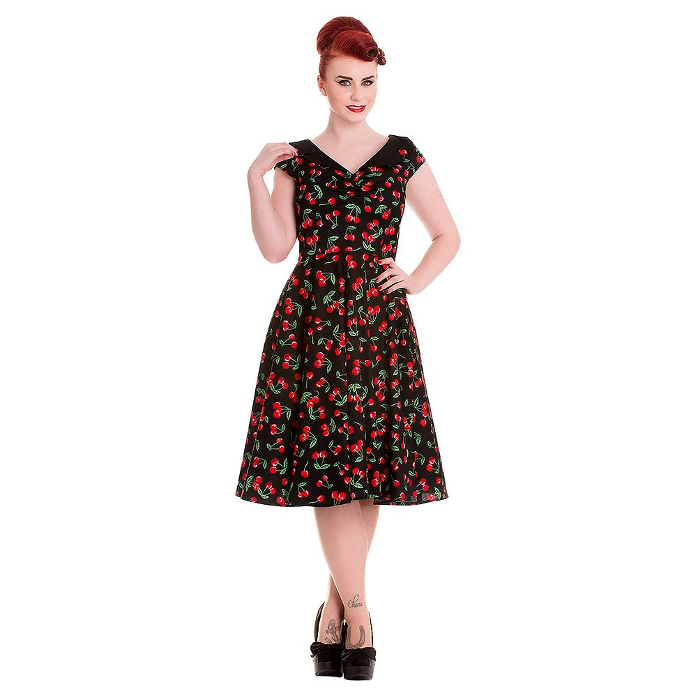 9f2ceb65354 Hell Bunny Cherry Pop 50 s Dress (Black)