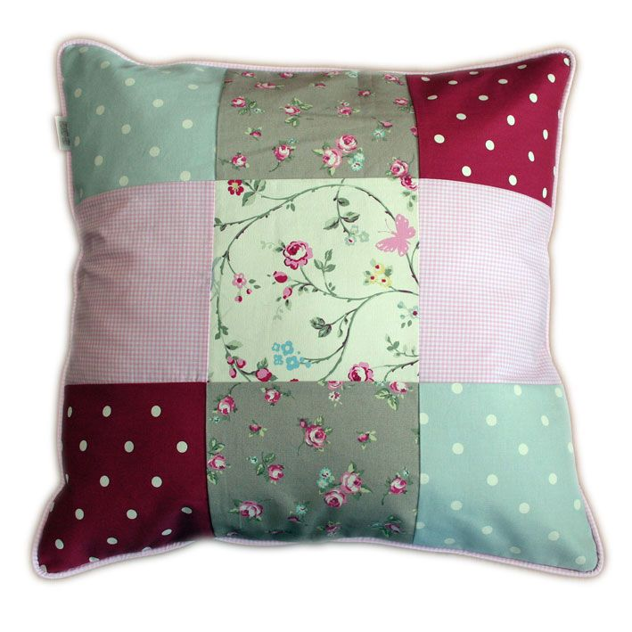 """Patchwork Scatter cushion - available in various sizes. """"Bloom"""" range. www.tulatu.co.za"""