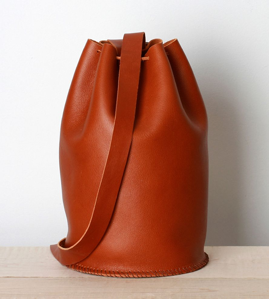 Leather Drawstring Bag | Leather drawstring bags