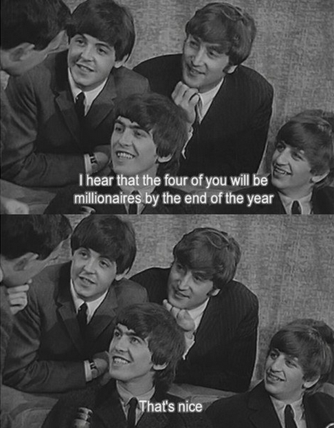 They were coy Beatles funny, The beatles, Beatles love