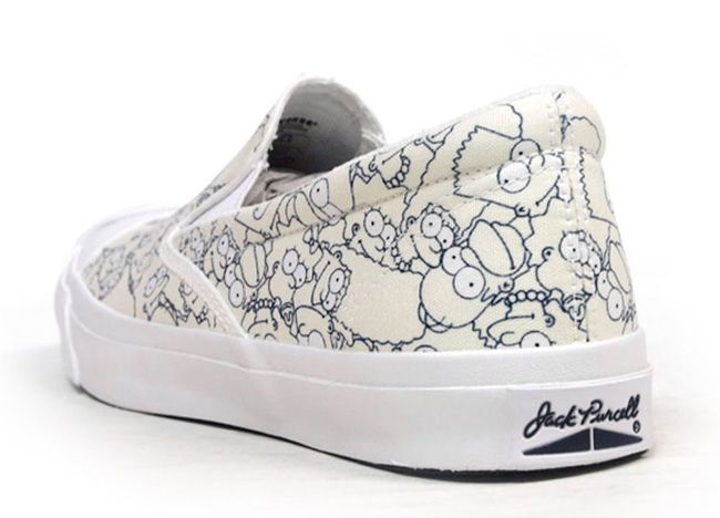 "Converse Jack Purcell Slip-On ""The Simpsons"" - http://starakia24.gr/converse-jack-purcell-slip-simpsons/"