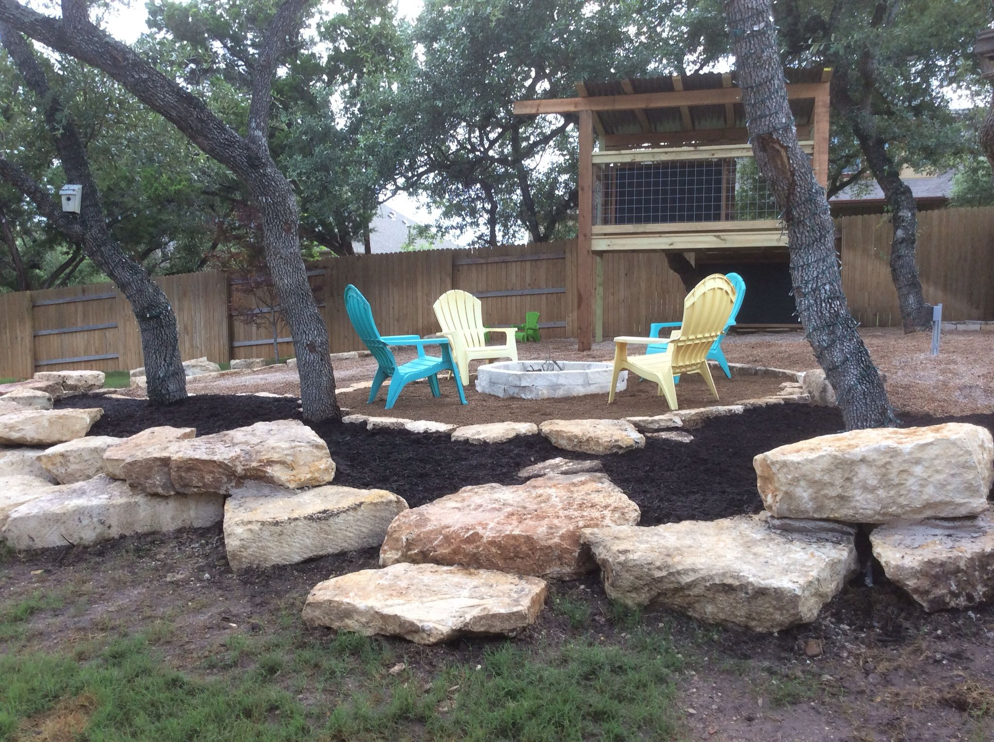 Limestone Fire Pit With Crushed Granite Seating Area Landscape Projects By Greengoes Landscapes Llc Outdoor Decor Crushed Granite Decor