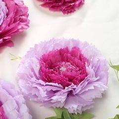 "Pack of 6   Lavender   Multi-size Carnation 3D Giant Paper Flowers   Paper Flower Backdrops Wedding Wall   7""/9""/11"" #giantpaperflowers"