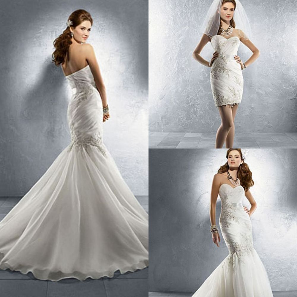 a chic collection of wedding dresses with detachable bottom