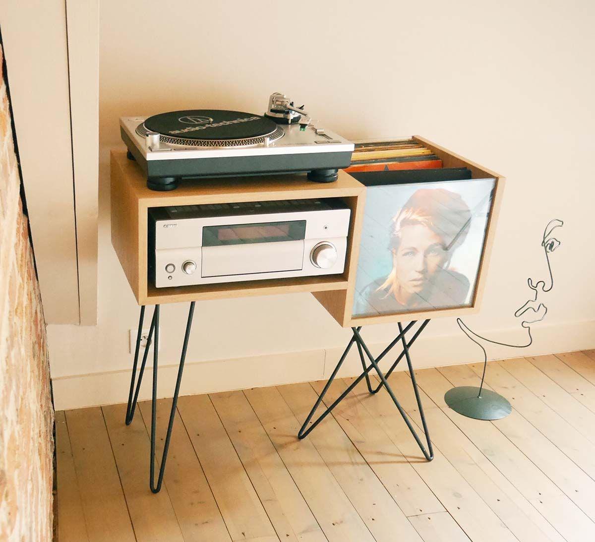43 meubles pour ranger des vinyles meuble disques. Black Bedroom Furniture Sets. Home Design Ideas