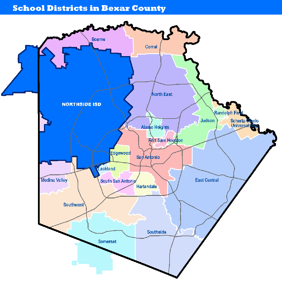A color coded zoning map of the Districts in Bexar ... on geneva zoning map, texas zoning map, wimberley zoning map, palm harbor zoning map, hot springs zoning map, socorro zoning map, pullman zoning map, fayetteville zoning map, tequesta zoning map, goodyear zoning map, springfield zoning map, alvin zoning map, wisconsin zoning map, kennesaw zoning map, alabama zoning map, aspen zoning map, jackson zoning map, cedar city zoning map, illinois zoning map, seville zoning map,