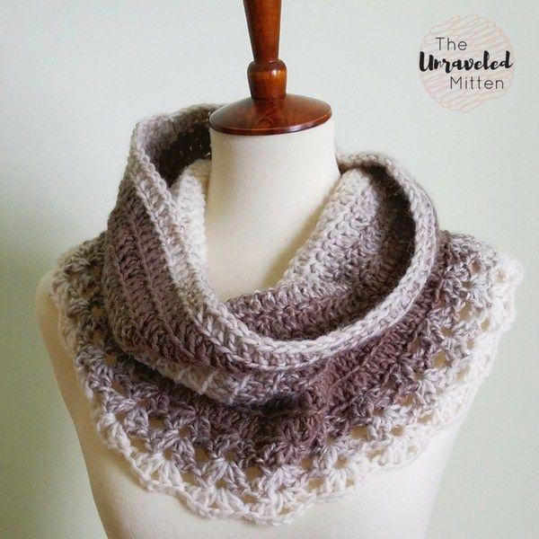 Petoskey Lace Cowl: Free Crochet Pattern | Chal y Ganchillo