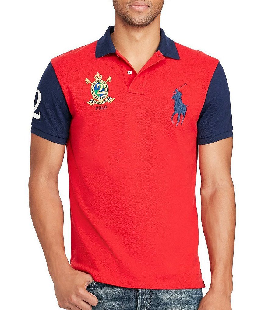 8affbb4d043c Polo Ralph Lauren Classic-Fit Color Block Big Pony Short-Sleeve Polo Shirt