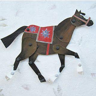 Paper horse puppet