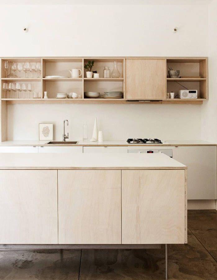 Une cuisine en bois minimaliste cuisine leila Pinterest