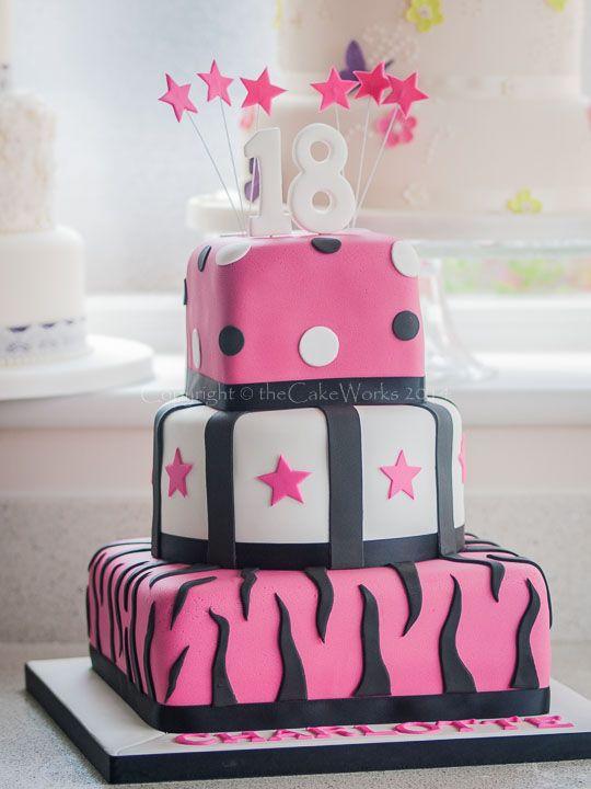 Pink Th Birthday Cake Designs Google Search Birthday - Happy birthday 18 cake